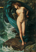 Nudes Framed Prints - Andromeda Framed Print by Edward John Poynter