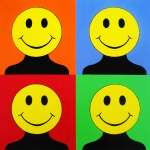 Smiley Faces Prints - Andy Called It Acieed Print by Oliver Johnston
