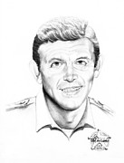 (murphy Elliott) Drawings - Andy Griffith by Murphy Elliott