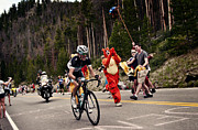 Summit County Colorado Posters - Andy Schleck in the Break Poster by Chuck Parsons