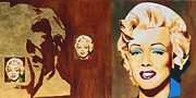 Influences Framed Prints - Andy Warhol - Gold Marilyn Framed Print by Dennis McCann