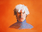 Andy Warhol Drawings - Andy Warhol by Kirsten Reifeiss