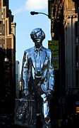 Union Square Metal Prints - Andy Warhol New York Metal Print by Andrew Fare