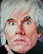 Portraits By Timothe Framed Prints - Andy Warhol Framed Print by Timothe Winstead