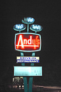 Sign In Florida Photo Prints - Andys Drive-In Print by Jost Houk