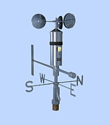 Wind Vane Photos - Anemometer And Wind Vane by Paul Rapson
