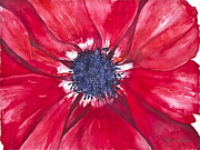 Good Luck Mixed Media Posters - Anemone Poster by Patricia Allingham Carlson