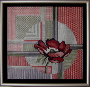 Gray Tapestries - Textiles Metal Prints - Anemonie Metal Print by Shirley Heyn