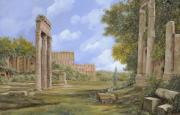 Ancient Painting Framed Prints - Anfiteatro Romano Framed Print by Guido Borelli