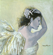 Acrylic Posters - Angel    Poster by Dorina  Costras
