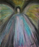 Angels Pastels Prints - Angel-1 Print by Alma Yamazaki