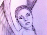 Angel Drawings - Angel by Aaron  Moultrie