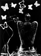 Darkroom Prints - Angel and Butterflies Print by Gabriela Insuratelu