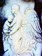 Ethereal Mixed Media - Angel And Child by Mary Morawska