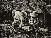 Frog Prince Prints - Angel and Frog Print by Bill Cannon