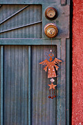 Folkart Prints - Angel at the Door Print by Carol Leigh