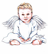 Angel Drawings - Angel Baby II by Denny Phillips