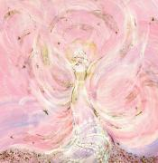 Bride Mixed Media Posters - Angel Bride Poster by Rosemary Babikan