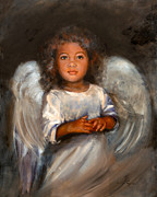 Comfort Paintings - Angel Comfort by Angel Cottage
