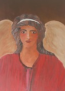 Orthodox Paintings - Angel by Constantinos Louca