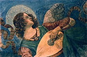 Painted Image Posters - Angel Depicted As A Musician By Melozzo Da Forli Poster by Photos.com