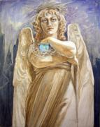 Neo-classical Framed Prints - Angel Earth Framed Print by Kathryn Donatelli