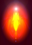 Saints Digital Art Posters - Angel-Energy-Healing Poster by Ramon Labusch