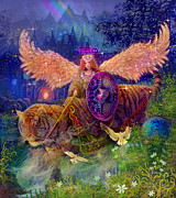 Tarot Paintings - Angel Fairy Dream by Steve Roberts