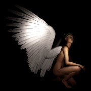 Winged Woman Digital Art Prints - Angel Print by Farcon Ville