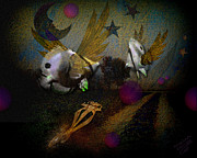 Dreamscape Metal Prints - Angel Fish Metal Print by Mimulux patricia no