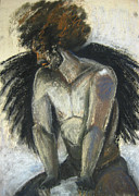 African American Man Drawings Prints - Angel Print by Gabrielle Wilson-Sealy