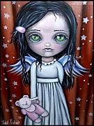 Griffith Framed Prints - Angel Girl Framed Print by  Abril Andrade Griffith