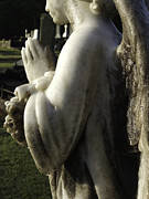 Praying Hands Prints - Angel Print by Graham Hughes