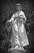 Historic Statue Digital Art Prints - Angel II in Black and White - vignetted Print by Suzanne Gaff