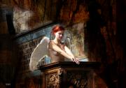Storm Digital Art Originals - Angel In Church 549 by The Hybryds