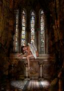 Storm Digital Art Originals - Angel In Church 594b by The Hybryds