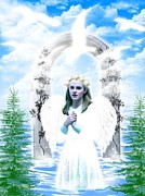 Cool Digital Art Originals - Angel in heaven by Zain Khan