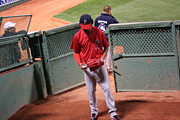 Red Sox Metal Prints - Angel in the bullpen Metal Print by Stephen Melcher