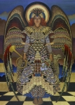 Gold Color Paintings - Angel by Jane Whiting Chrzanoska