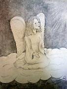 Religious Drawings - Angel by Jennifer Hernandez