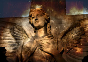 Mount Hope Cemetery Prints - Angel Print by Judy Knesel