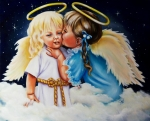 Angel Paintings - Angel Kiss by Joni McPherson