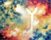 Angel Paintings - Angel Light by Marina Petro