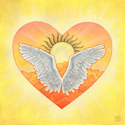Angel Art Pastels Prints - Angel Print by Lisa Kretchman
