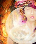 Contemplative Paintings - Angel Luna by Michael Rock
