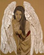 Angel Drawings - Angel Messenger by Margie Resto
