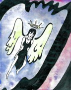 Angel Drawings - Angel by Michael Walker