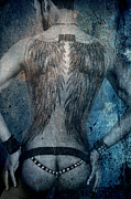 Body Art Photos Posters - Angel Nude  Poster by Mark Ashkenazi