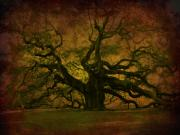 Mystical Art Posters - Angel Oak 3 Charleston Poster by Susanne Van Hulst