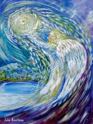 Angel Wings Paintings - Angel of Anchorage by Julie Bourbeau